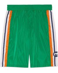 Gucci Badeshorts mit GG - Grün