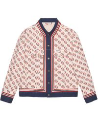 Gucci - Printed Cotton Twill Jacket - Lyst
