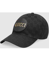 Gucci 【公式】 (グッチ)GGキャンバス ベースボールキャップ ブラック GGキャンバスブラック