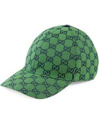 Gucci GG Multicolour Canvas Baseball Hat - Green