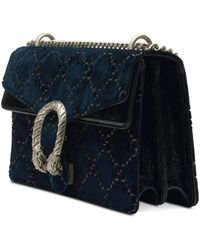 Gucci Dionysus GG Velvet Small Shoulder Bag - Blue