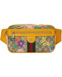Gucci Ophidia GG Flora Belt Bag - Natural