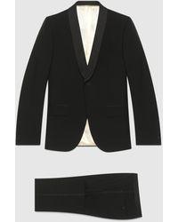 Gucci Smoking aus Mohairwolle mit schmal zulaufender Passform - Schwarz