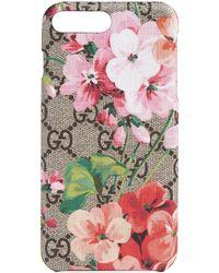 Gucci - Étui pour iPhone 8 Plus GG Blooms - Lyst