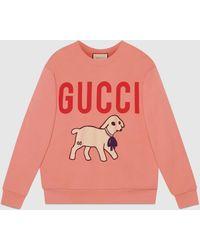 Gucci - ラム パッチ付き オーバーサイズ スウェットシャツ - Lyst
