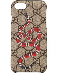 Gucci - IPhone 8-Etui mit Kingsnake-Print - Lyst