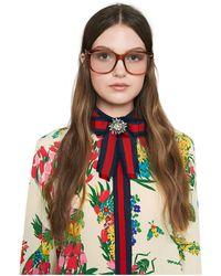 Gucci Spilla a forma di fiocco - Multicolore