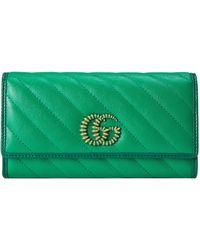 Gucci Cartera continental GG Marmont - Verde