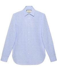 29cc113e07 Gucci Cotton Poplin Shirt in White for Men - Lyst