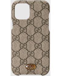 Gucci 【公式】 (グッチ)〔オフィディア〕iphone 12/12 Pro ケースベージュ&エボニー GGスプリームベージュ - ナチュラル