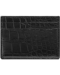 9305602d57799f Lyst - Gucci Crocodile Zip Around Wallet in Blue for Men