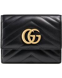 Gucci Portefeuille GG Marmont - Noir