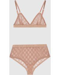 Gucci Dessous-Set aus GG Tüll - Pink