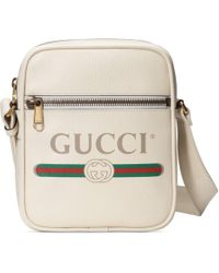 Gucci - Sac messager a imprime blanc - Lyst