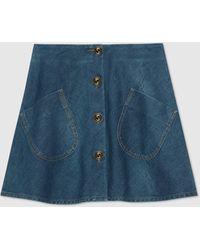 Gucci Minirock aus Denim - Blau