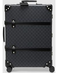 Gucci 【公式】 (グッチ)グローブ・トロッター GG ミディアム スーツケースブラック GGスプリームブラック
