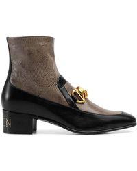 Gucci - Men's Horsebit Chain Boot With Lizard - Lyst