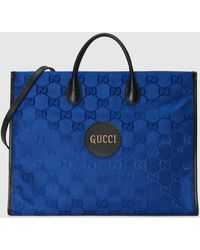 Gucci 【公式】 (グッチ) Off The Grid トートバッグブルー GG Econyl®ブルー