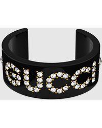 Gucci - Armspange mit Kristallen - Lyst