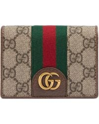Gucci - GG Card Case With Three Little Pigs - Lyst