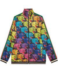 Gucci - Jacke aus technischem Jersey mit Panthergesicht - Lyst