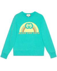 Gucci - Sweatshirt with rainbow print - Lyst