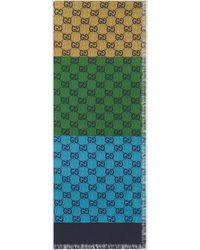 Gucci GG Multicolor Schal aus Baumwollmischung - Rot