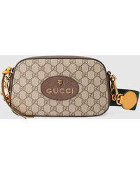 Gucci 【公式】 (グッチ)〔ネオ ヴィンテージ〕GGスプリーム メッセンジャーバッグベージュ/エボニーベージュ - ナチュラル