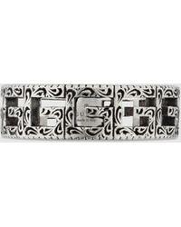 Gucci Ring aus Silber mit Square G - Mettallic