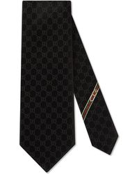 Gucci Gg Pattern Tie - Black
