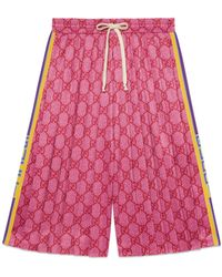 Gucci - Shorts in jersey tecnico a stampa GG - Lyst