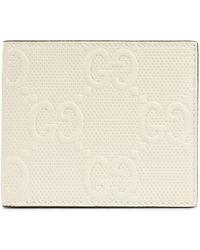 Gucci Brieftasche aus geprägtem GG Leder - Weiß