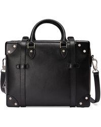 Gucci Leather Mini Suitcase - Black