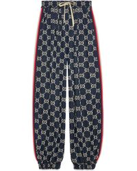 Gucci GG Jersey Track Bottoms - Blue