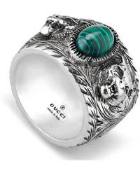 Gucci Garden Ring In Silver - Metallic