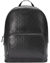 Gucci - Zaino in pelle Signature - Lyst d922358f22fd