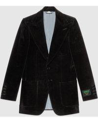 Gucci - Jackett aus Samt mit Etikett - Lyst