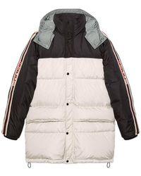Gucci Nylon Coat With Stripe - White