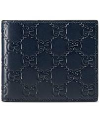 Gucci Signature Wallet - Blue