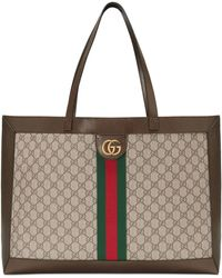 Gucci - Brown GG Ophidia Tote - Lyst
