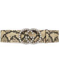 Gucci Cinturón con estampado de pitón GG de cristal - Multicolor