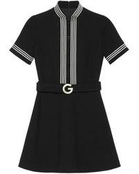 Gucci - Robe en crêpe de laine légère - Lyst
