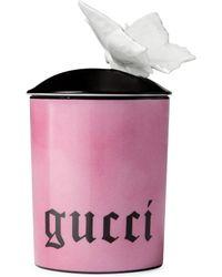 Gucci Bougie de taille moyenne à motif papillon, senteur Inventum - Rose