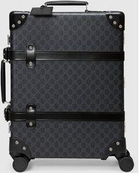 Gucci 【公式】 (グッチ)グローブ・トロッター GG キャリーオンバッグブラック GGスプリームブラック