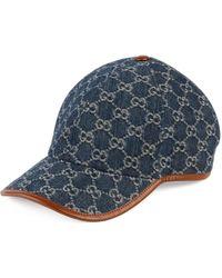 Gucci Baseballkappe aus GG Denim - Blau