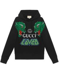 Gucci - Cotton Sweatshirt With Tigers - Lyst