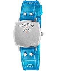 Gucci Reloj Grip, 27 mm - Azul