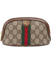 Gucci Trousse à maquillage Ophidia GG taille moyenne - Neutre