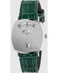 Gucci - 【公式】 (グッチ)〔グリップ〕 ウォッチ(35 Mm)グリーン アリゲーター Undefined - Lyst