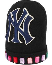 Gucci - Cappello in lana con patch NY YankeesTM - Lyst 981b8f0998dd